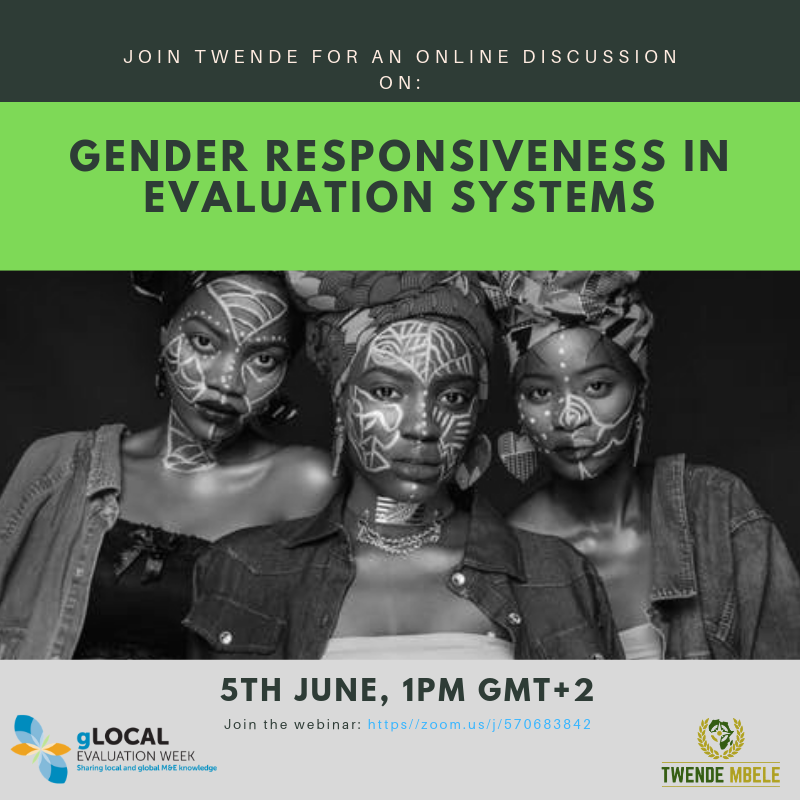 Gender responsiveness in South Africa M&E system