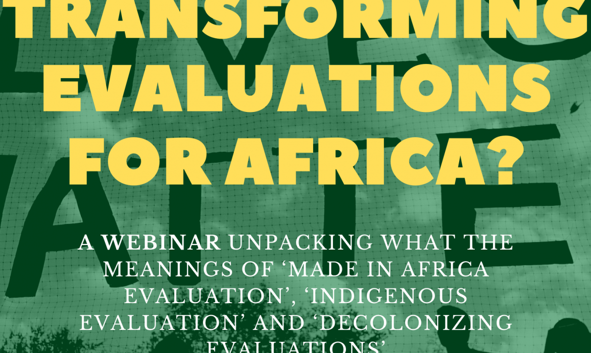 Transforming Evaluations for Africa – Webinar