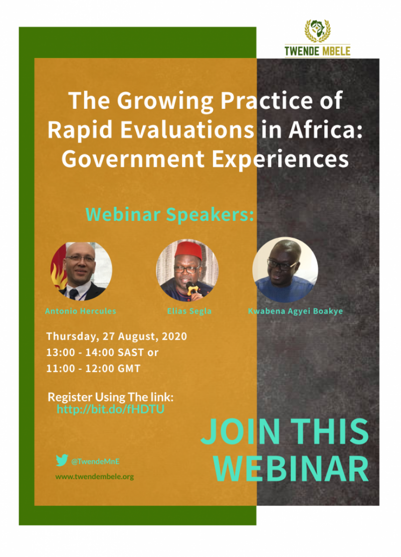 The Growing Practice of Rapid Evaluations in Africa: Government Experiences (Webinar)