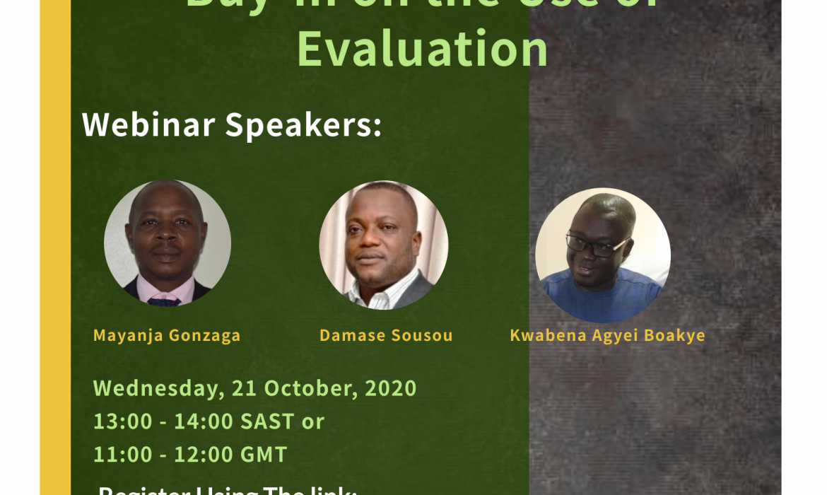 Building a robust M&E System: Getting political buy-in on the use of evaluation (Webinar)