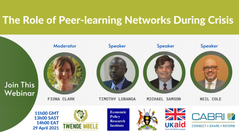 The Role of peer learning networks during crisis
