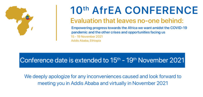 10th AfrEA Conference reschedules to 15th to 19th November 2021