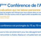 10ème conférence de l'AfrEA reportée du 15 au 19 novembre 2021